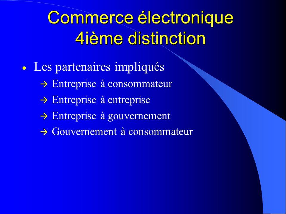 Commerce électronique 4ième distinction