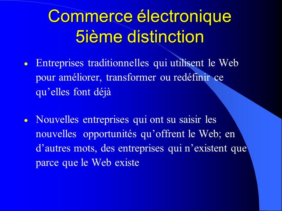 Commerce électronique 5ième distinction