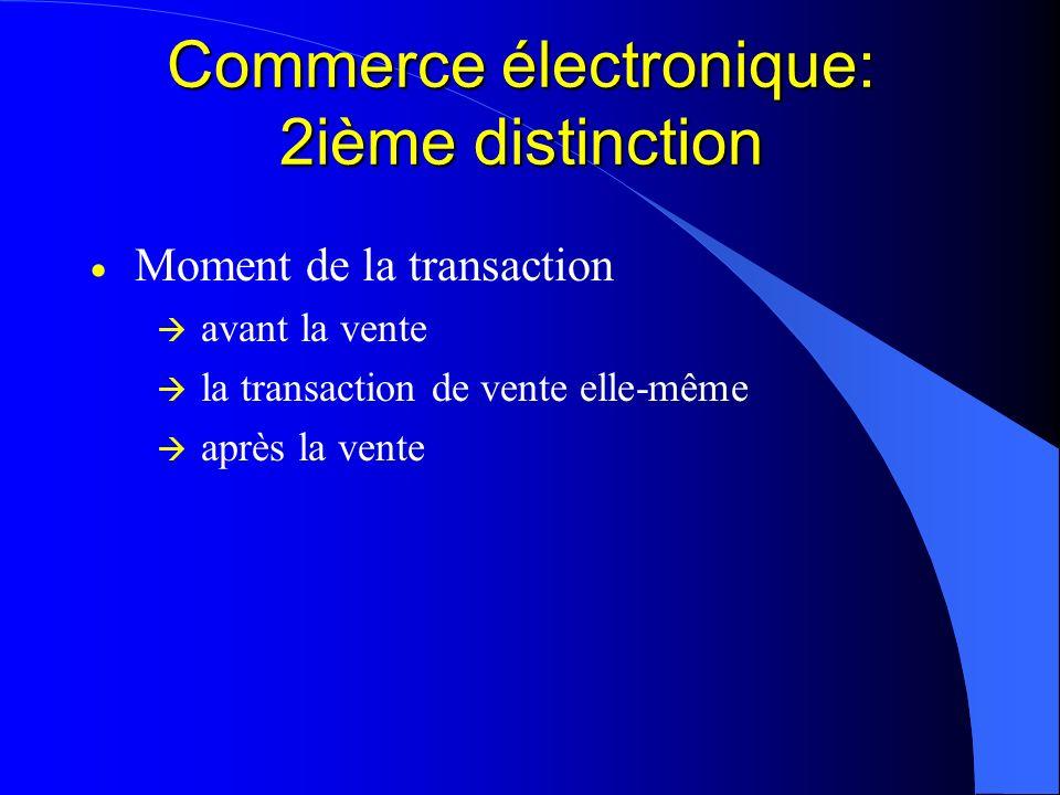 Commerce électronique: 2ième distinction
