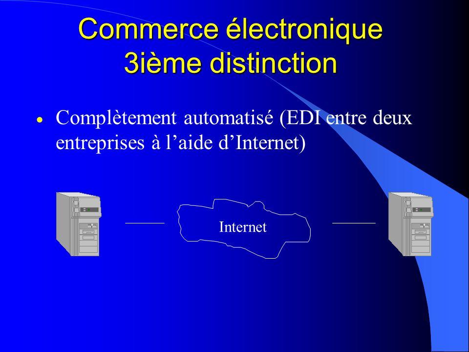 Commerce électronique 3ième distinction