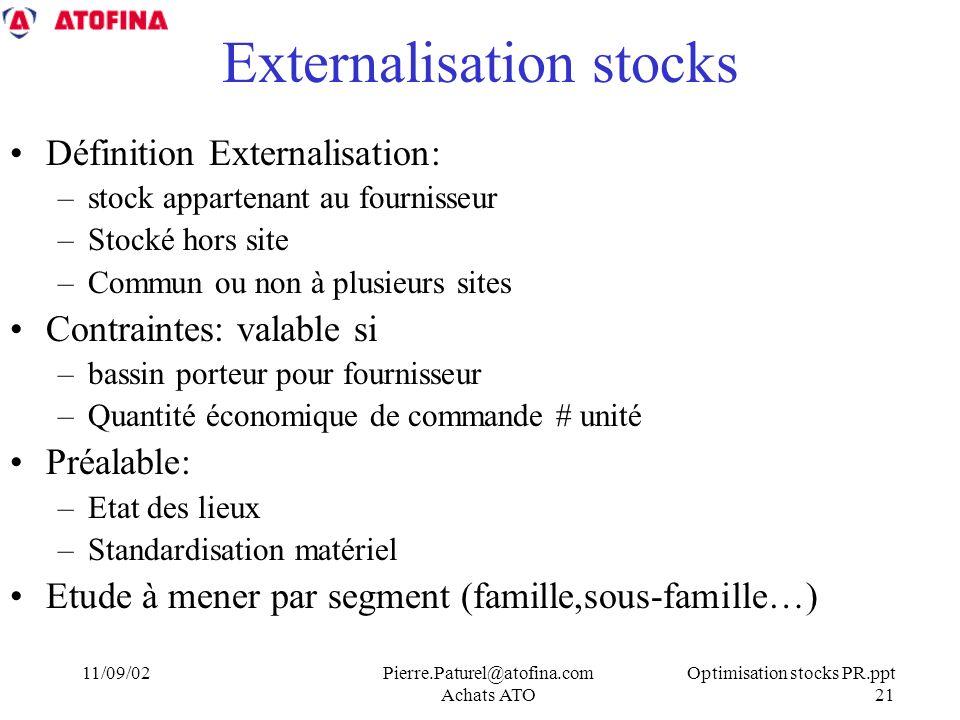 Externalisation stocks