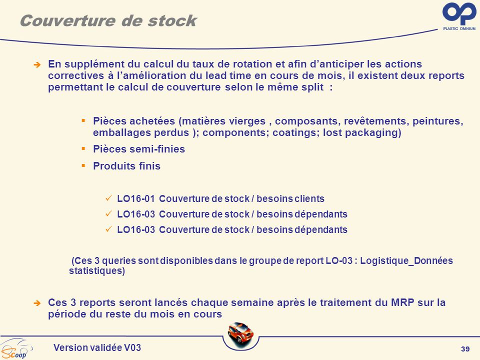 Couverture de stock