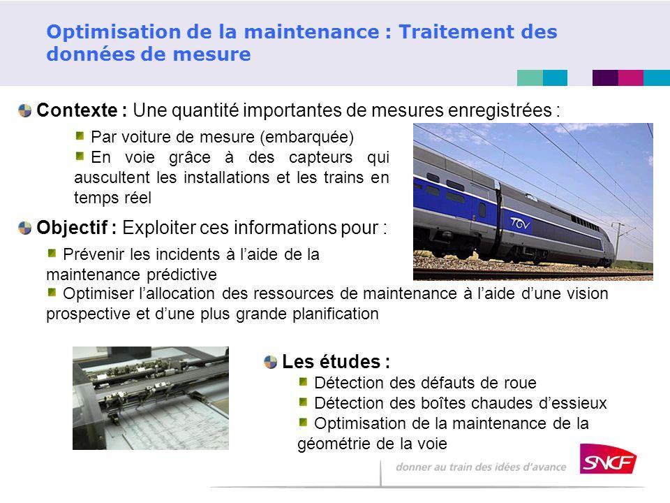 Optimisation de la maintenance : Traitement des données de mesure