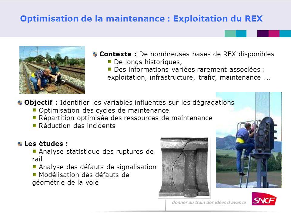 Optimisation de la maintenance : Exploitation du REX