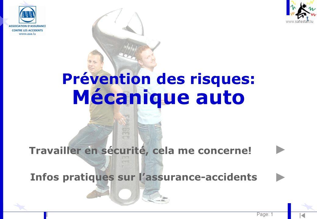 Prévention des risques: Mécanique auto