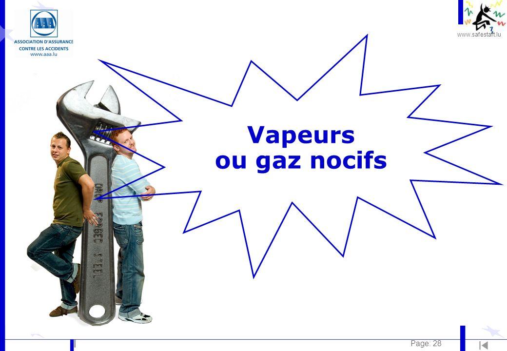 Vapeurs ou gaz nocifs Page: 28