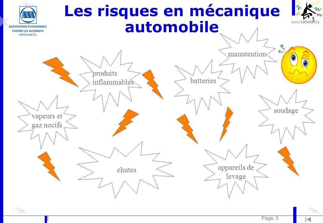 Les risques en mécanique automobile