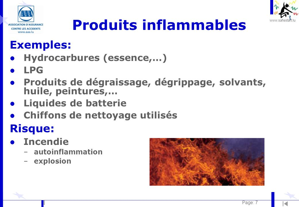 Produits inflammables