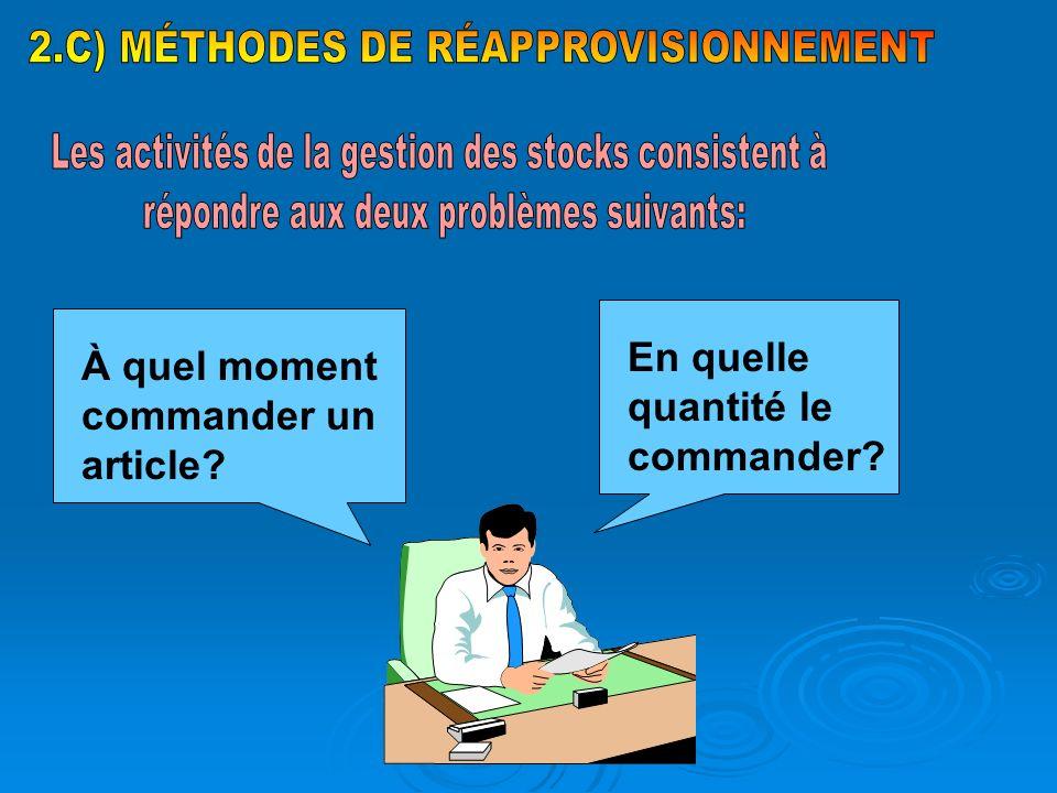 2.C) MÉTHODES DE RÉAPPROVISIONNEMENT