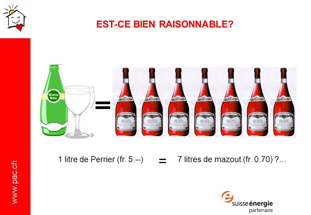 = EST-CE BIEN RAISONNABLE 1 litre de Perrier (fr. 5.--)