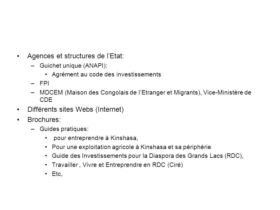 Agences et structures de l'Etat: