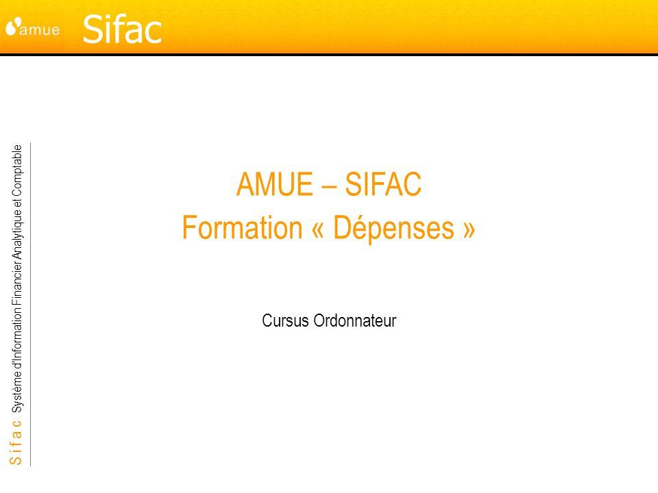AMUE – SIFAC Formation « Dépenses »