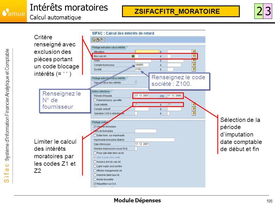 Intérêts moratoires Calcul automatique