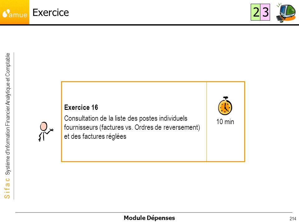Exercice 2. 3. 10 min. Exercice 16.
