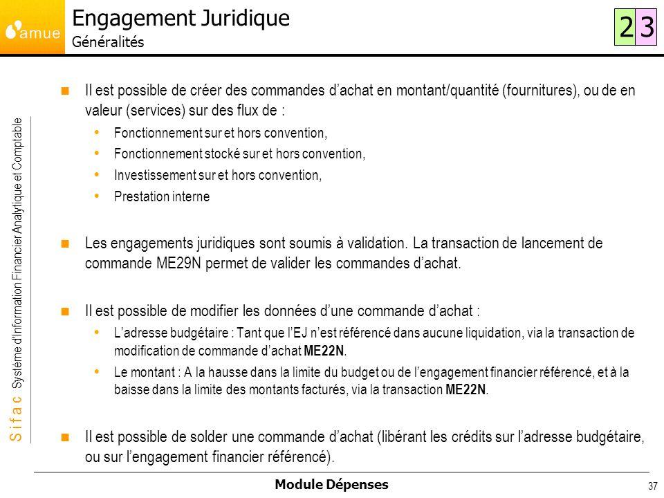 Engagement Juridique Généralités