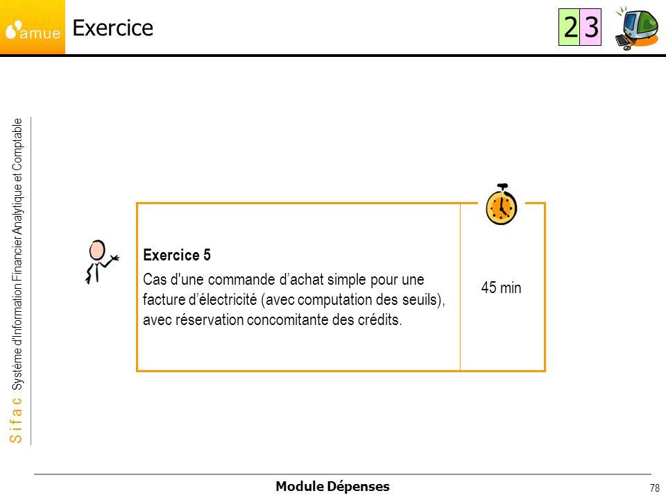 Exercice 2. 3. 45 min. Exercice 5.