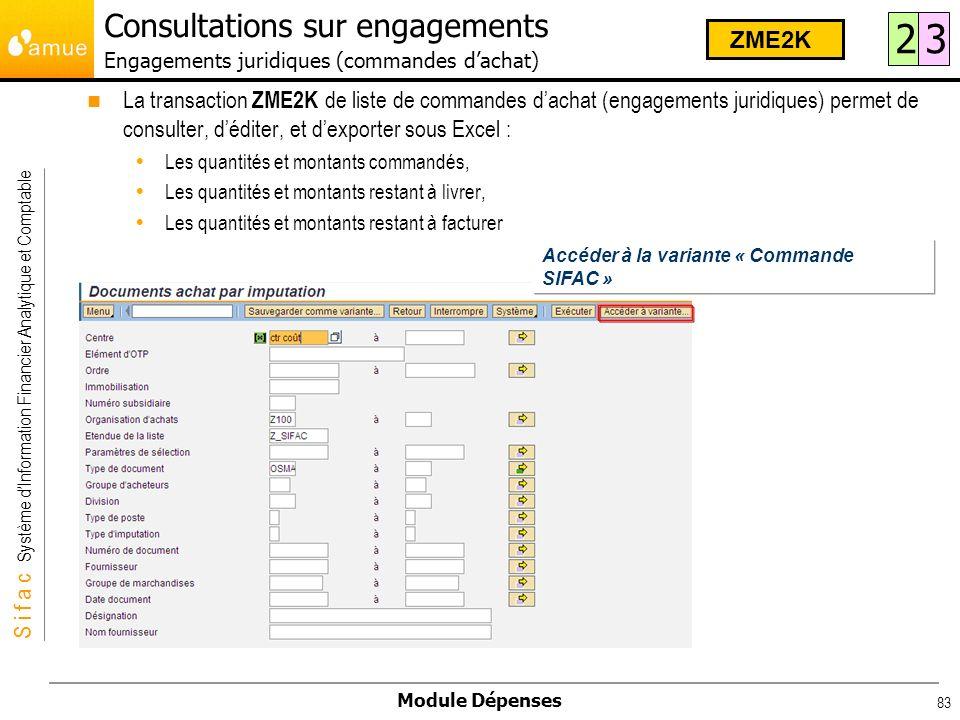 Consultations sur engagements Engagements juridiques (commandes d'achat)