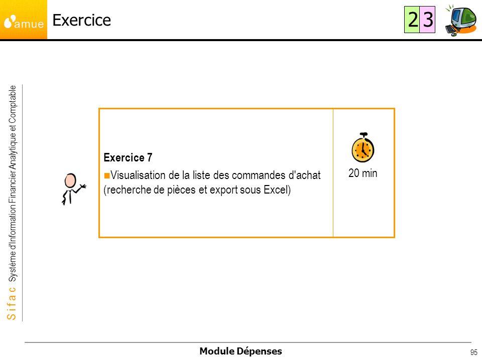 Exercice 2. 3. 20 min. Exercice 7.