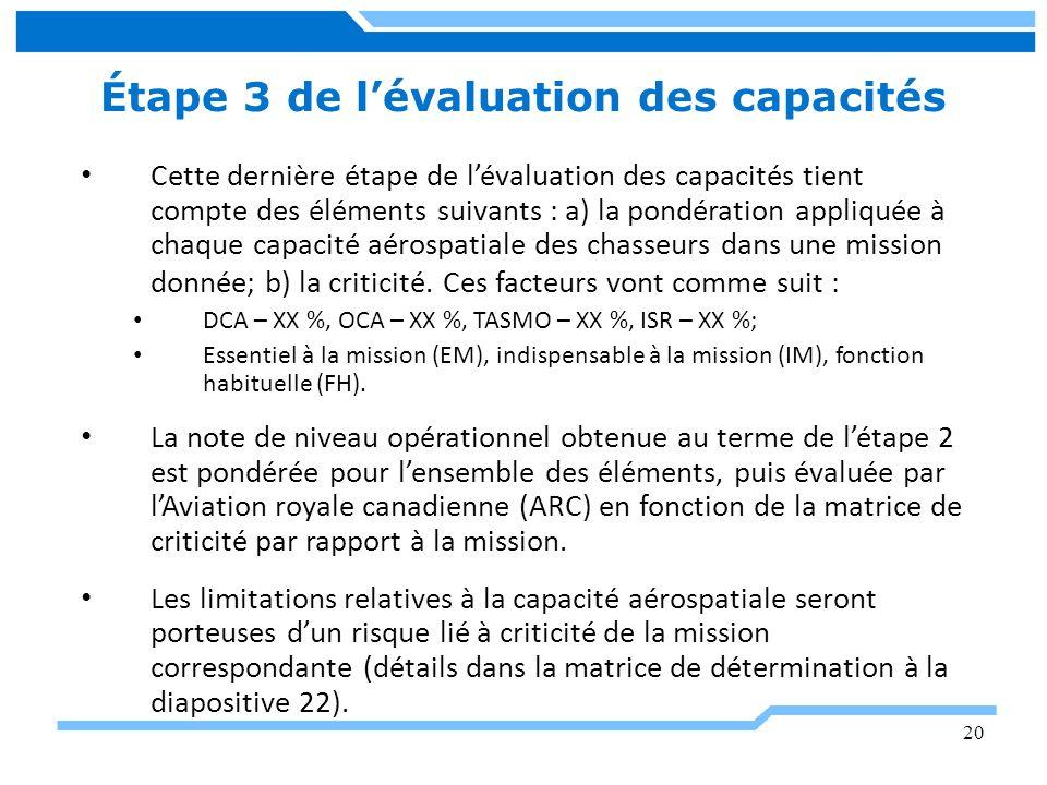 Étape 3 de l'évaluation des capacités