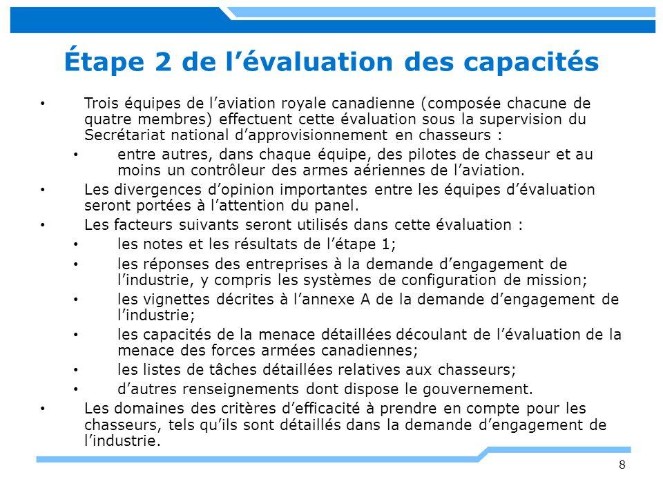 Étape 2 de l'évaluation des capacités