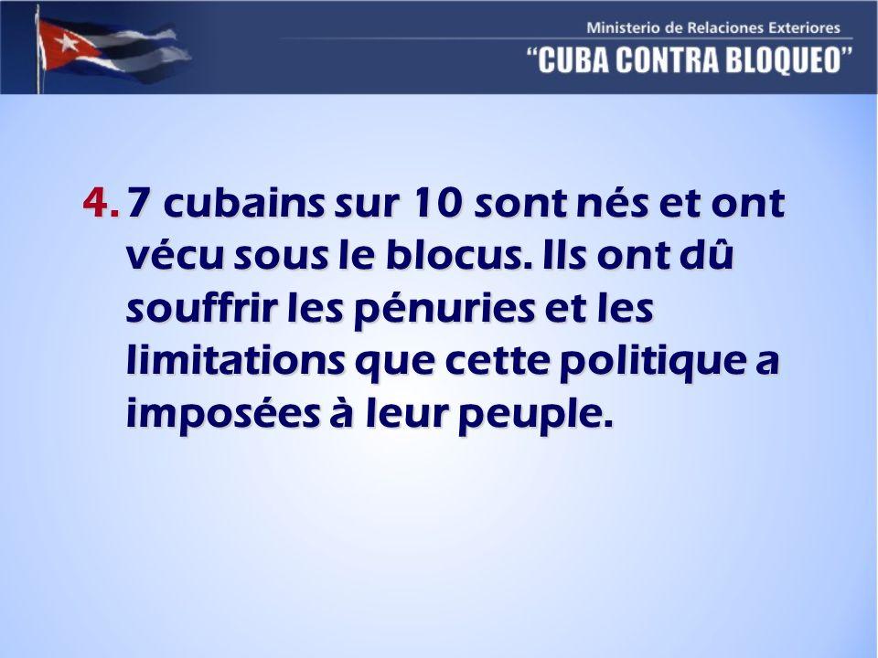 7 cubains sur 10 sont nés et ont vécu sous le blocus