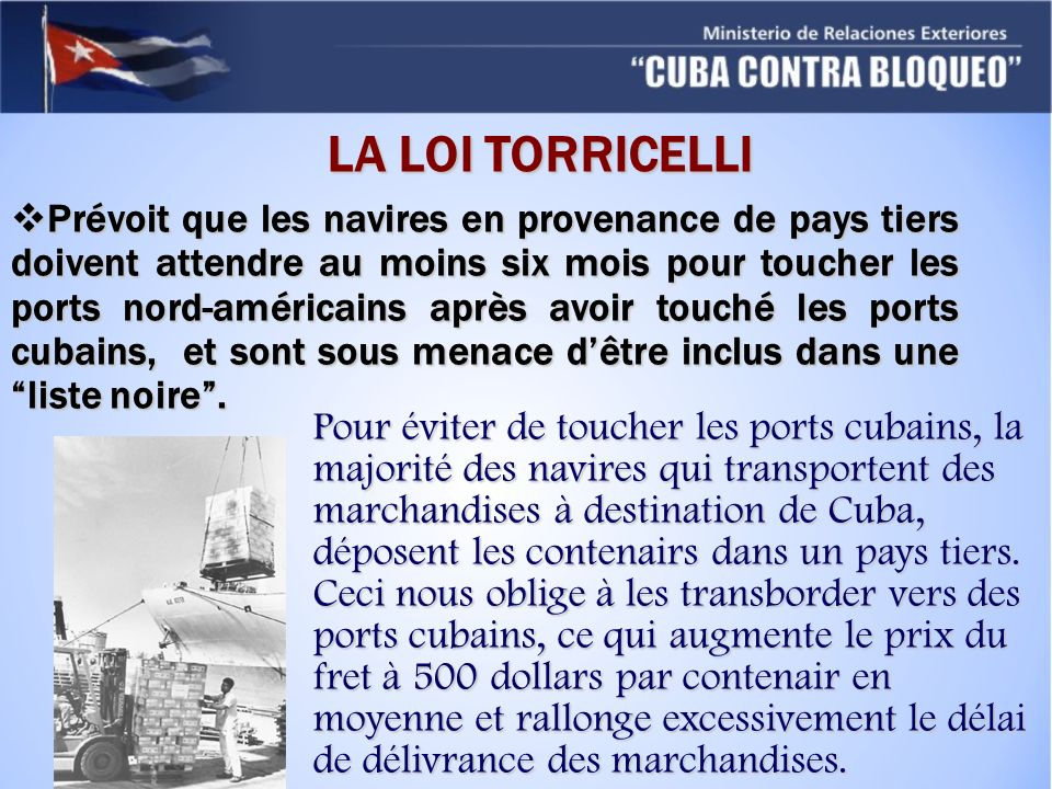LA LOI TORRICELLI