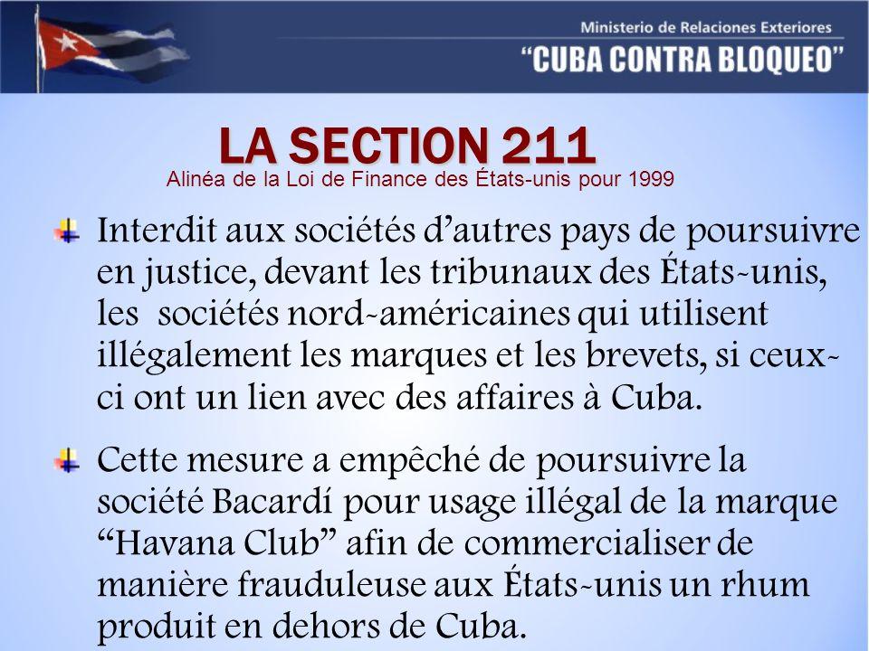 Alinéa de la Loi de Finance des États-unis pour 1999