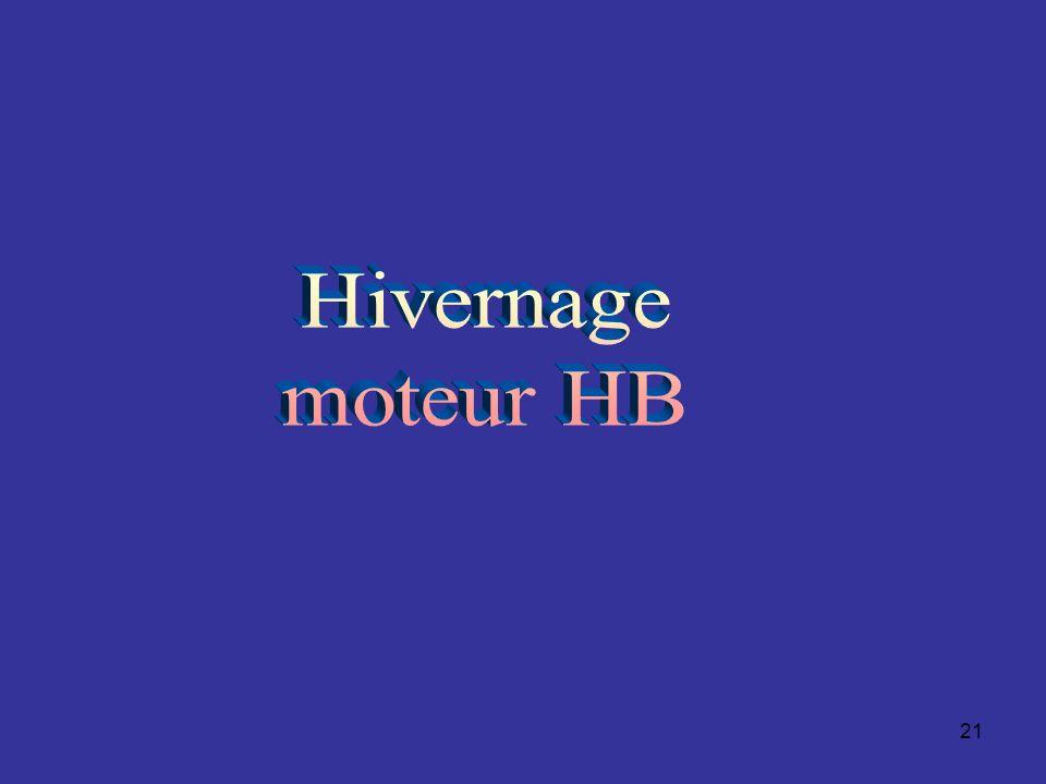 Hivernage moteur HB
