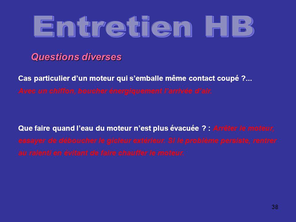 Entretien HB Questions diverses