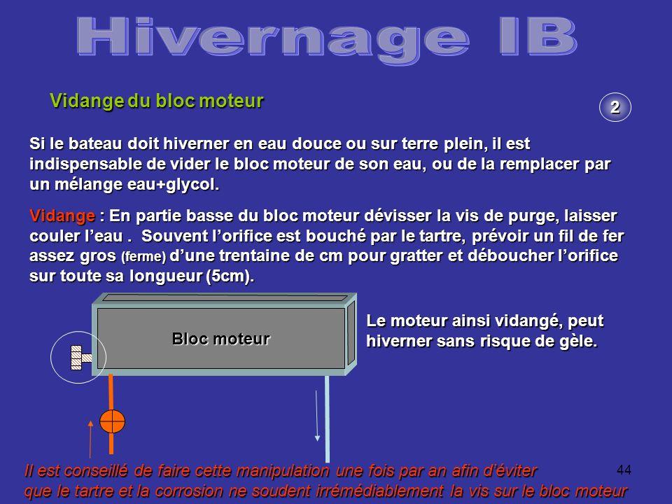 Hivernage IB Vidange du bloc moteur 2