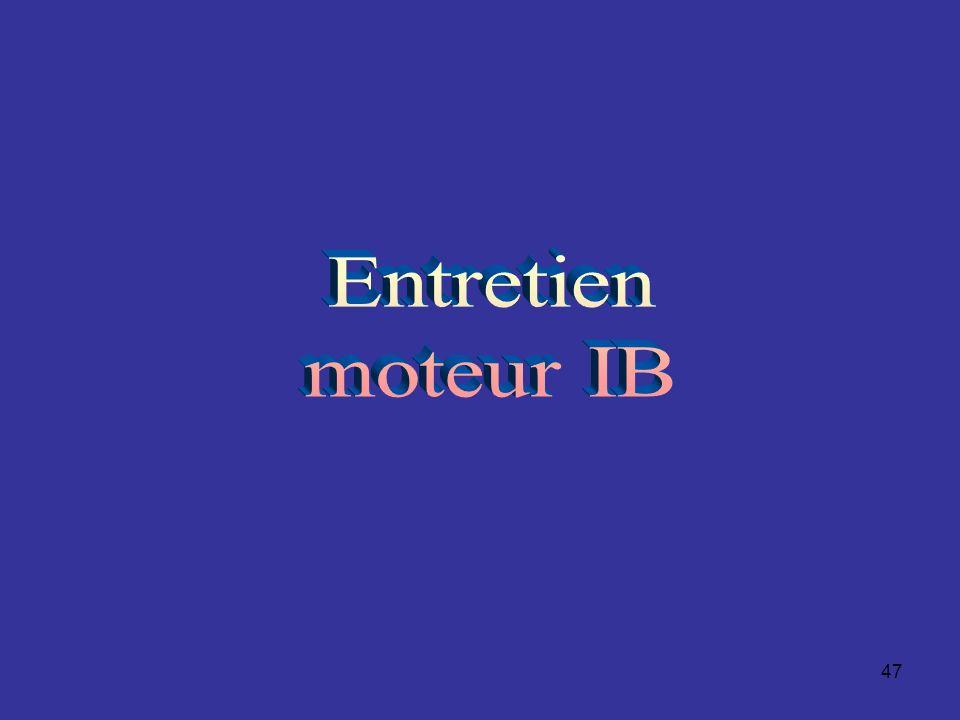 Entretien moteur IB