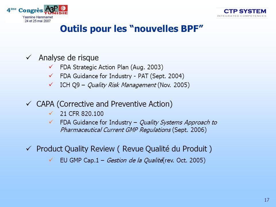 Outils pour les nouvelles BPF