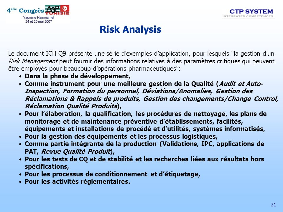 Risk Analysis