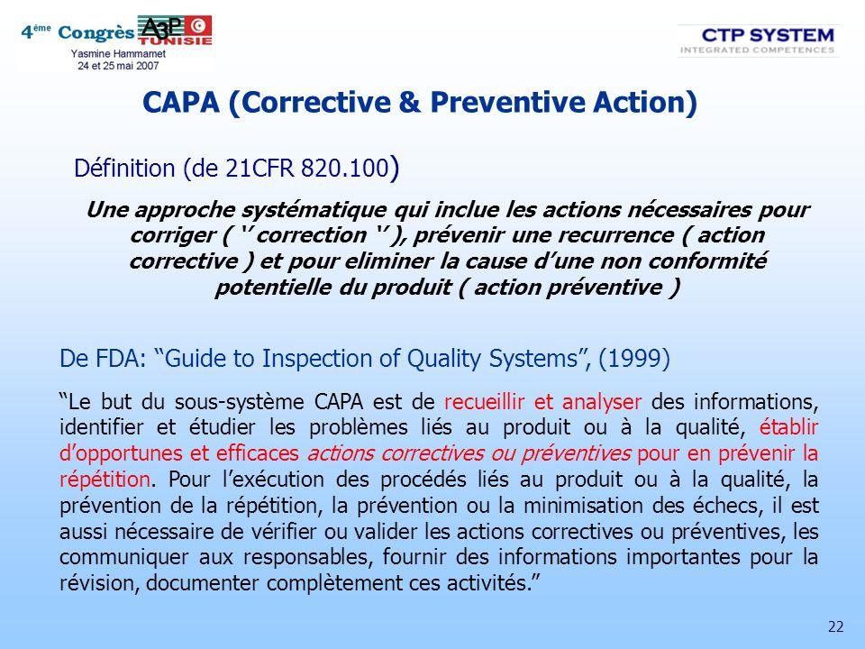 CAPA (Corrective & Preventive Action)