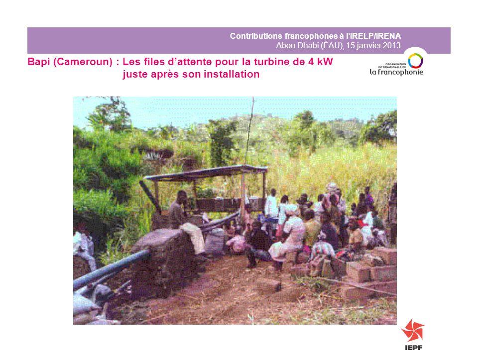 Bapi (Cameroun) : Les files d'attente pour la turbine de 4 kW