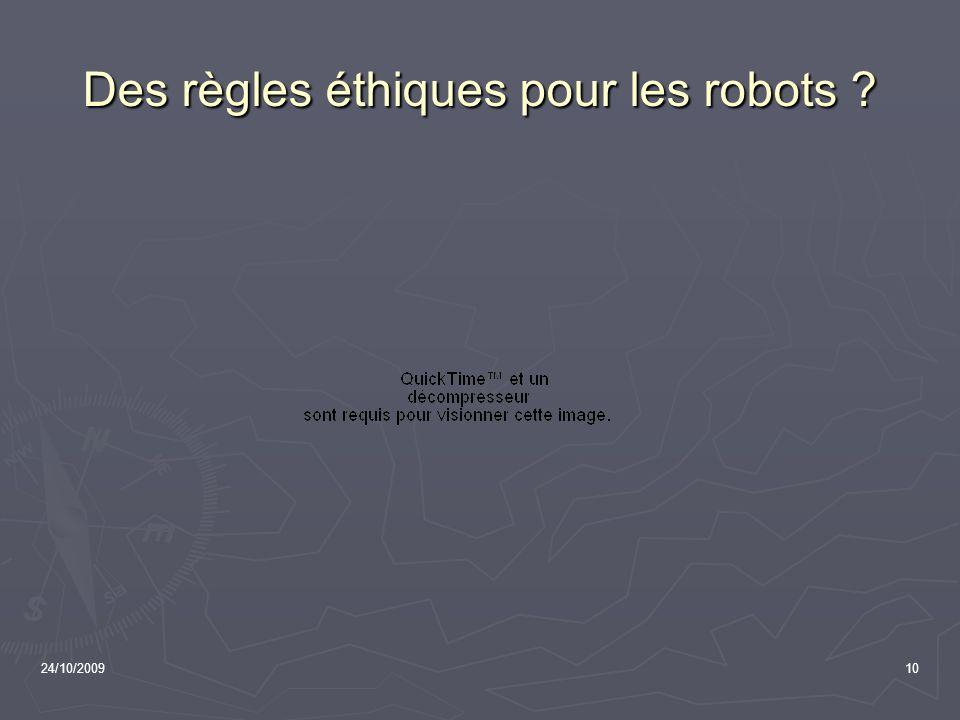 Des règles éthiques pour les robots