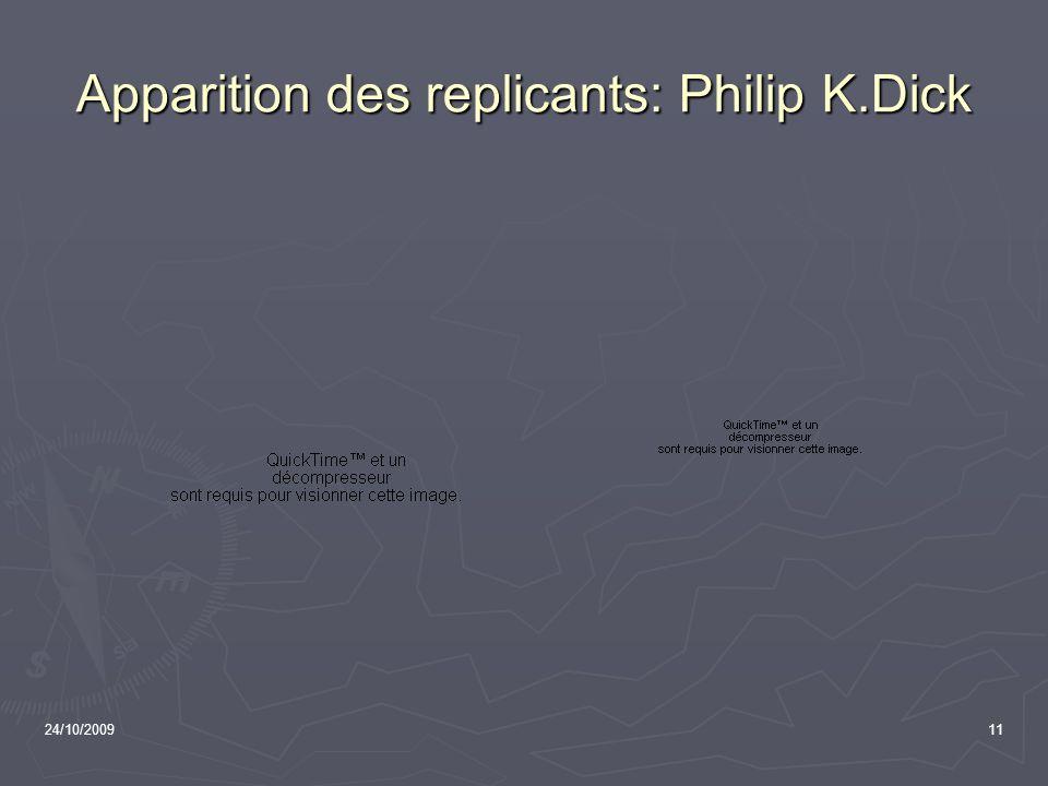 Apparition des replicants: Philip K.Dick