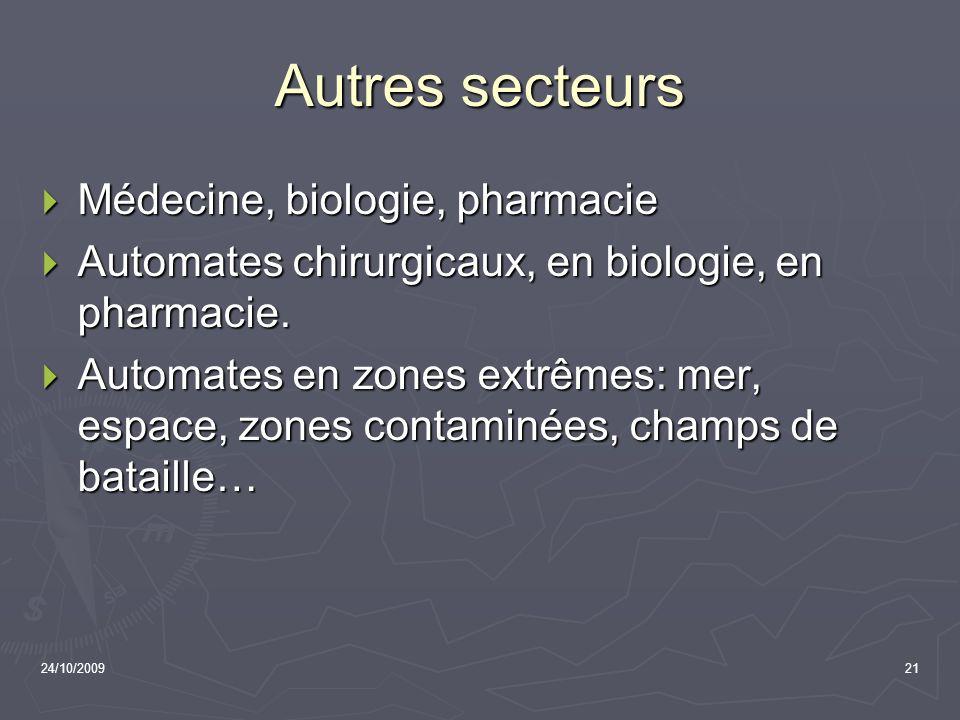 Autres secteurs Médecine, biologie, pharmacie