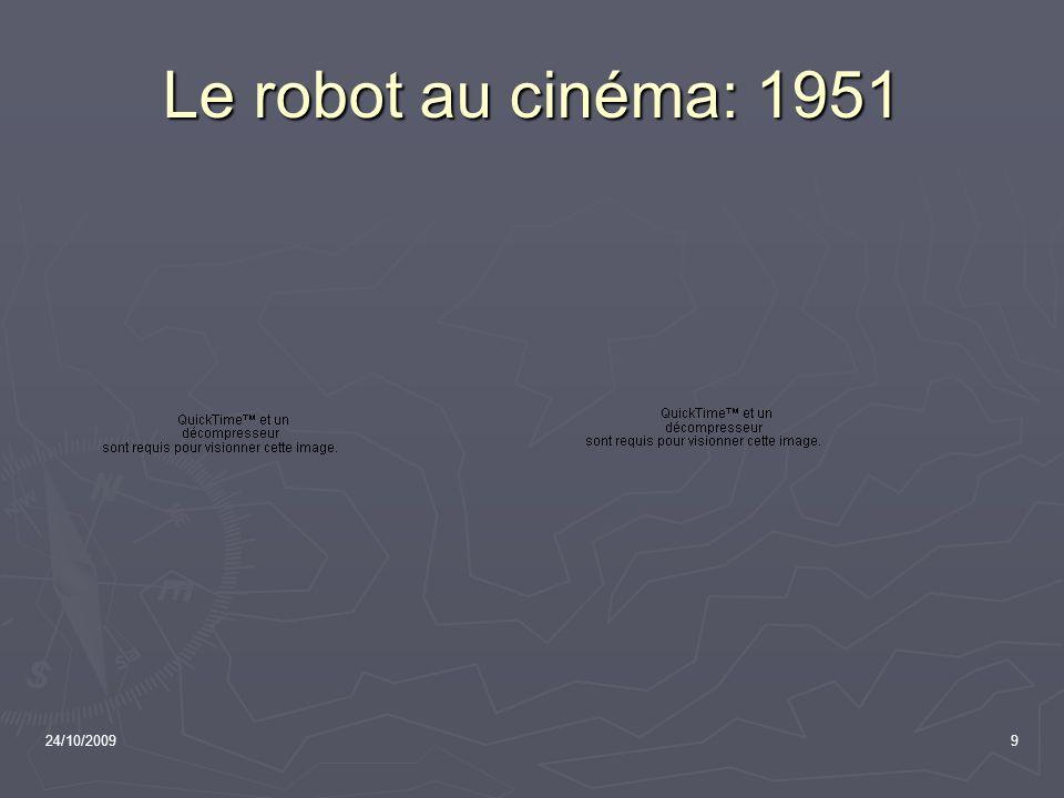 Le robot au cinéma: 1951 24/10/2009