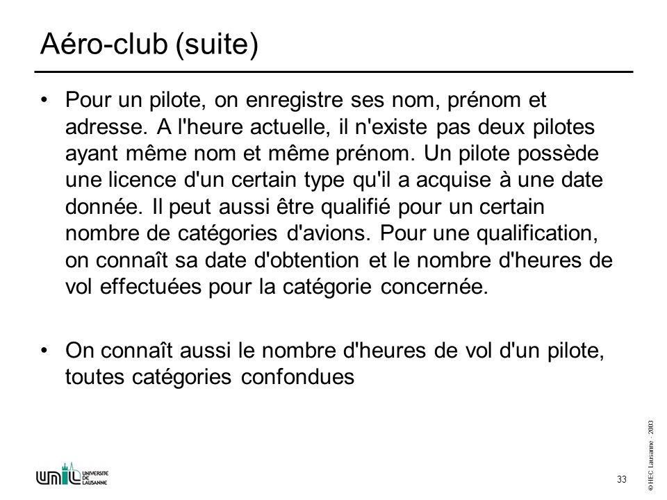 Entité-Association (2) - Exercices - Enoncés