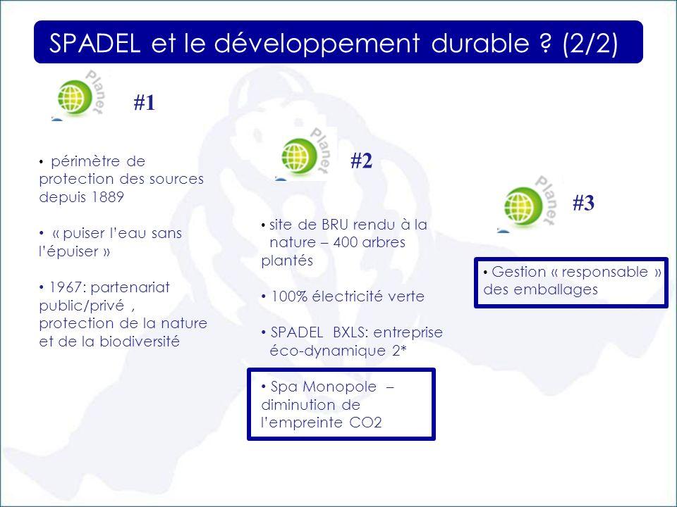 SPADEL et le développement durable (2/2)