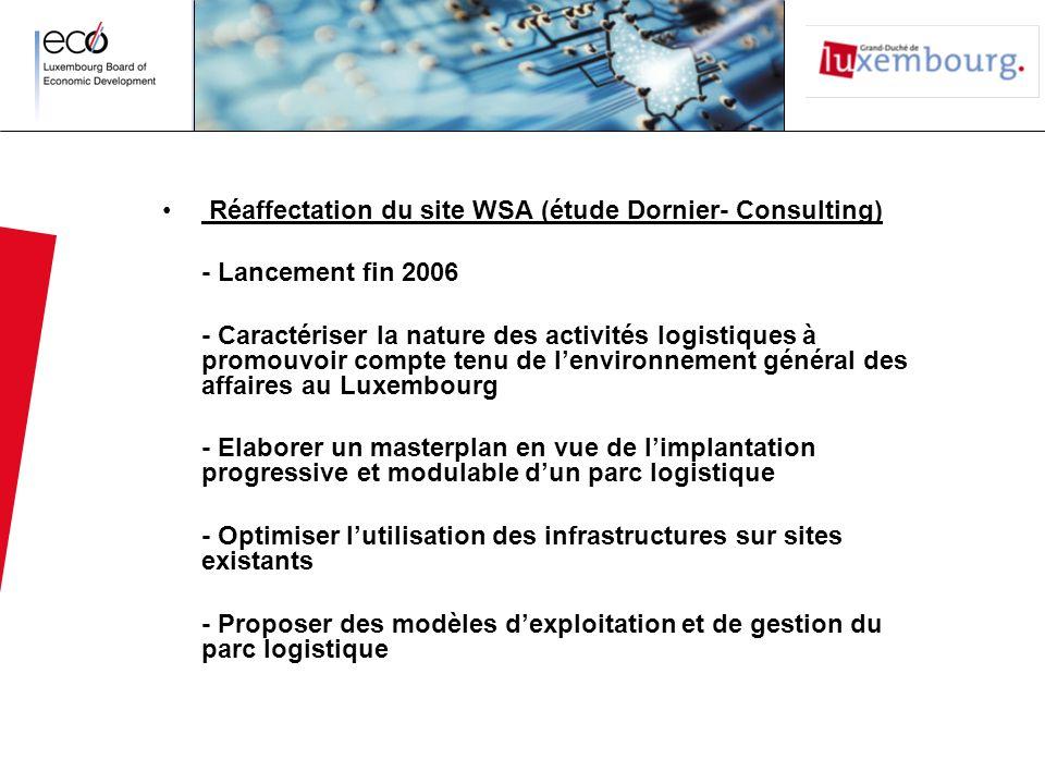 Réaffectation du site WSA (étude Dornier- Consulting)
