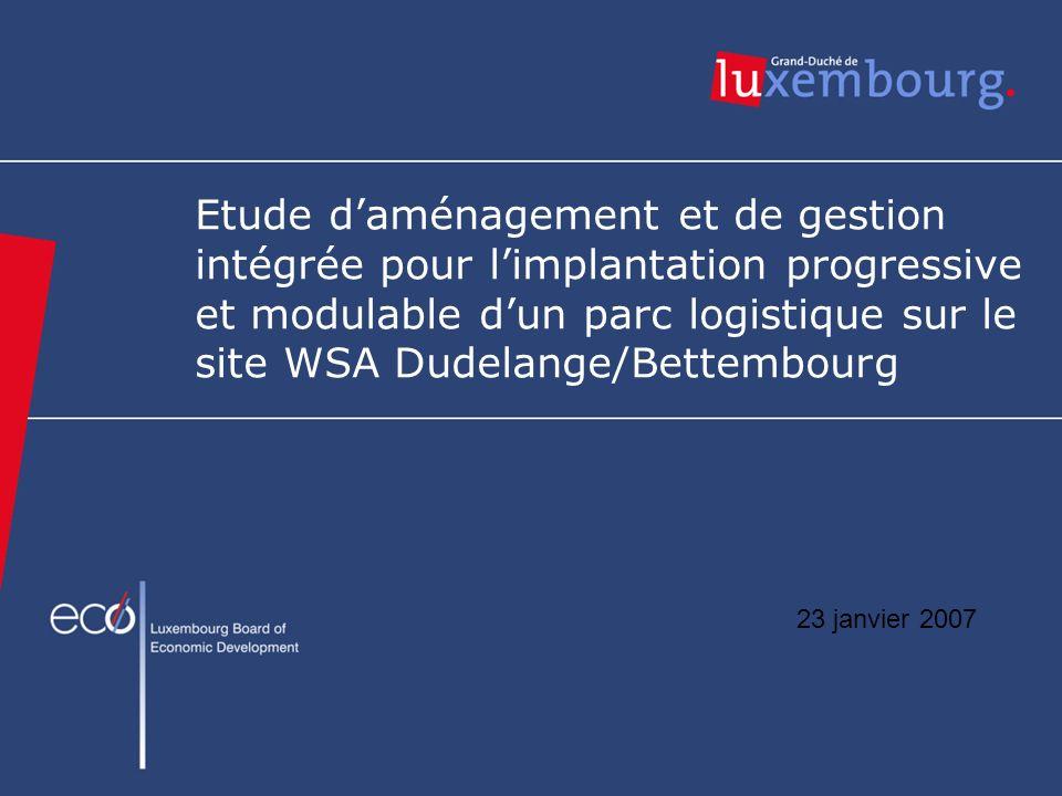 Etude d'aménagement et de gestion intégrée pour l'implantation progressive et modulable d'un parc logistique sur le site WSA Dudelange/Bettembourg