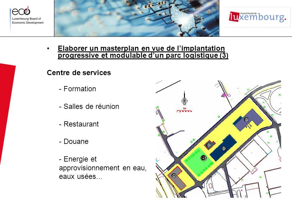 Elaborer un masterplan en vue de l'implantation progressive et modulable d'un parc logistique (3)