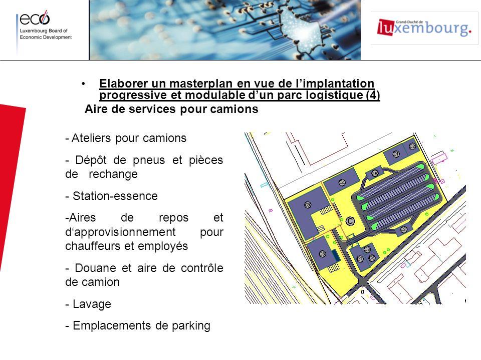Elaborer un masterplan en vue de l'implantation progressive et modulable d'un parc logistique (4)