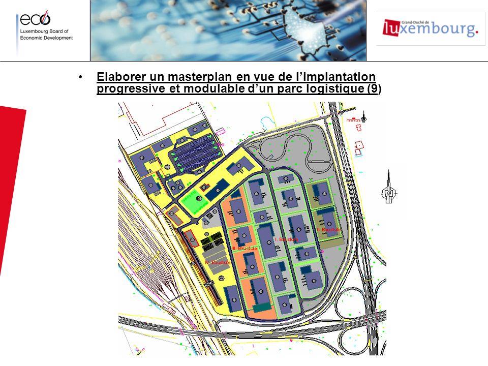 Elaborer un masterplan en vue de l'implantation progressive et modulable d'un parc logistique (9)