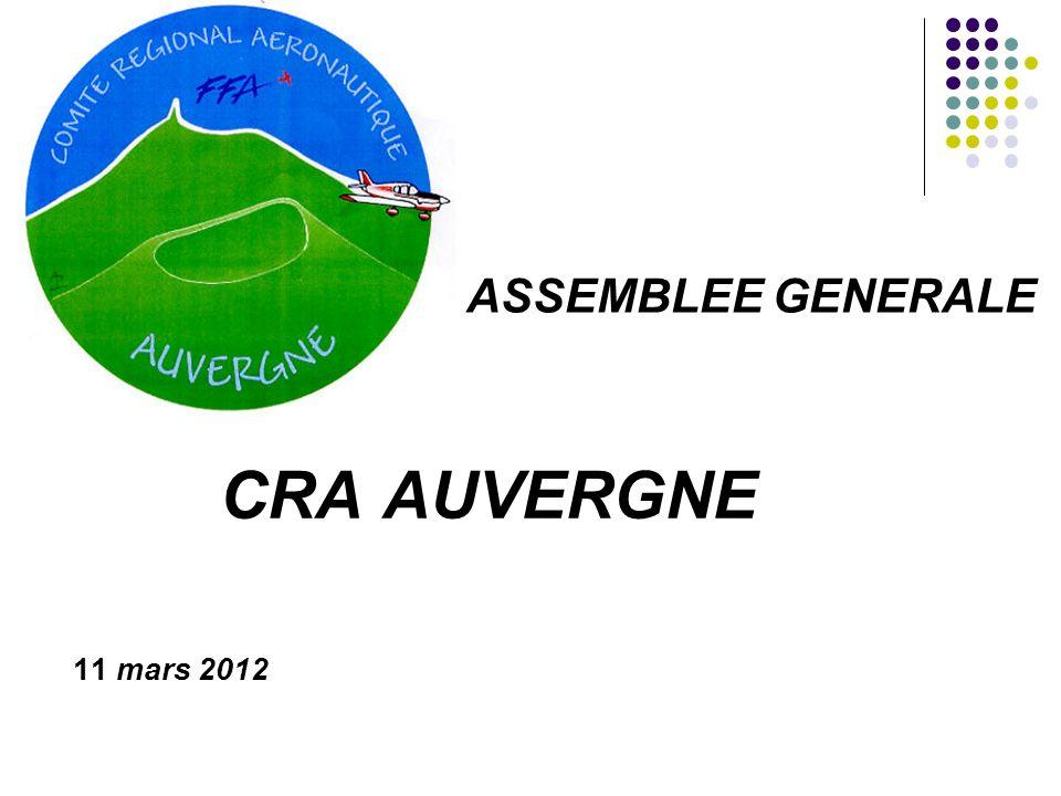 ASSEMBLEE GENERALE CRA AUVERGNE 11 mars 2012