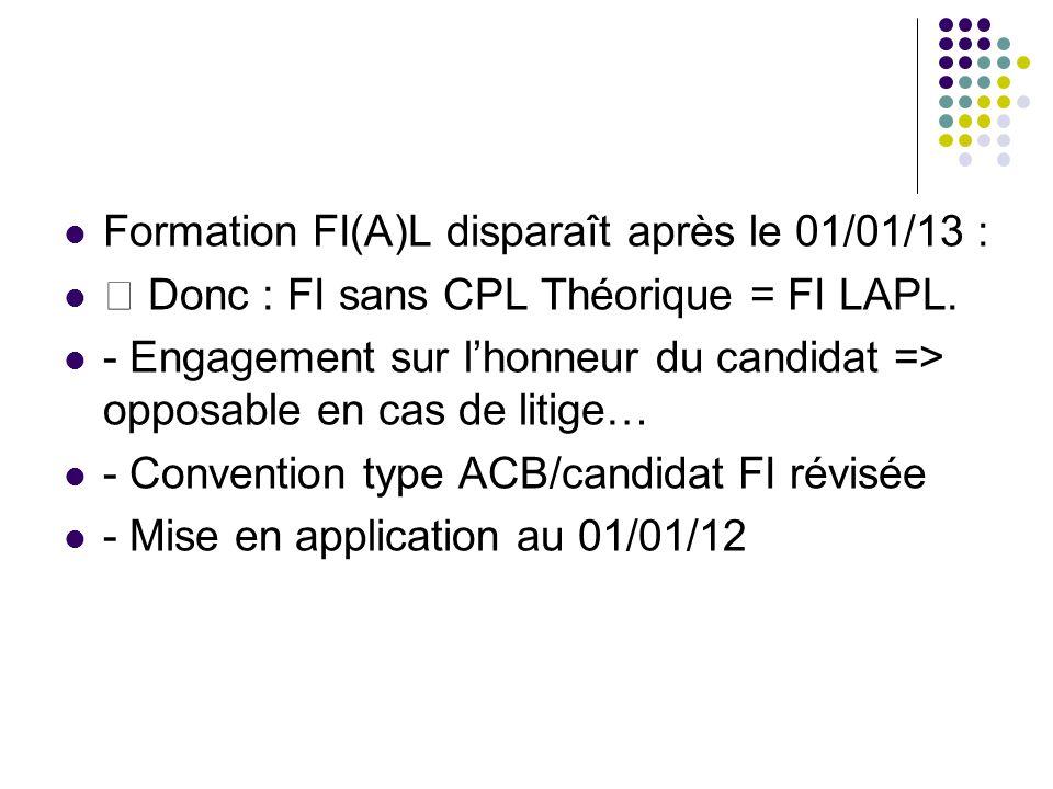 Formation FI(A)L disparaît après le 01/01/13 :