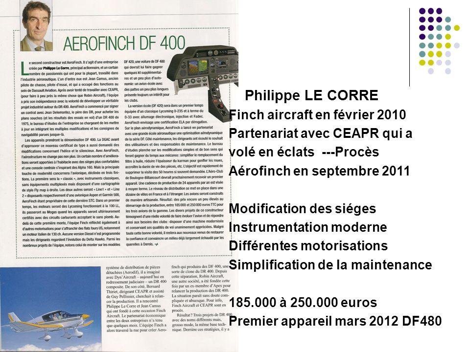 Philippe LE CORRE Finch aircraft en février 2010