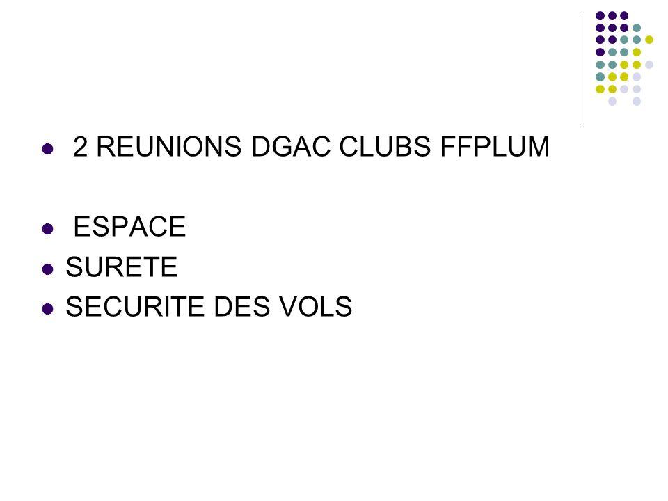 2 REUNIONS DGAC CLUBS FFPLUM
